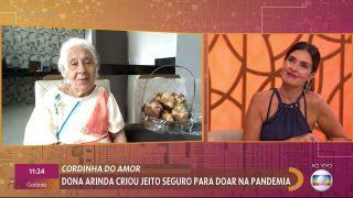 TV Globo | Vovó Arinda participa do Encontro com Fátima Bernardes