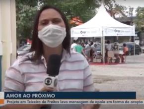 TV Santa Cruz (Globo) / TENDA DE ORAÇÃO EM PRAÇA DE TEIXEIRA DE FREITAS