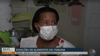 TV Santa Cruz (Globo) / Desde 1999, Edleuza cozinha e doa marmitas para moradores de rua
