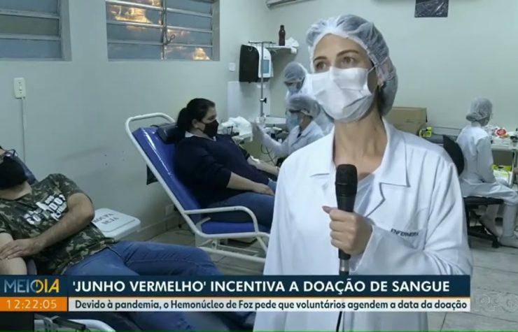 RPC Foz do Iguaçu | Jovens adventistas doam sangue no hemonúcleo
